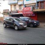 Hyundai ix25 spied with Ford EcoSport Belgaum