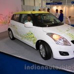 Maruti Swift Range Extender front three quarters left at the International Green Mobility Expo