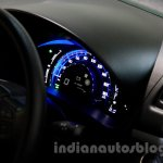 Maruti Swift Range Extender instrument cluster at the International Green Mobility Expo