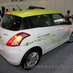 Maruti Swift Range Extender rear three quarters at the International Green Mobility Expo