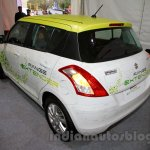 Maruti Swift Range Extender rear three quarters left at the International Green Mobility Expo