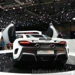 McLaren 675LT rear three quarter view at 2015 Geneva Motor Show