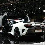 McLaren 675LT rear three quarter(2) view at 2015 Geneva Motor Show