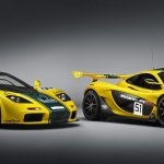McLaren P1 GTR with the McLaren F1 GTR front three quarters