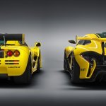 McLaren P1 GTR with the McLaren F1 GTR rear