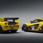McLaren P1 GTR with the McLaren F1 GTR