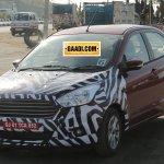 New Ford Figo compact sedan front quarter spied