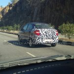 New Ford Figo compact sedan rear quarter spied India
