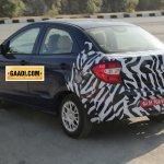 New Ford Figo compact sedan rear quarter spied