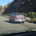New Ford Figo compact sedan rear quarters spied India