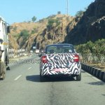 New Ford Figo compact sedan rear spied India