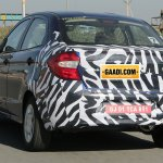 New Ford Figo compact sedan rear spied