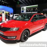 Skoda Rapid Combi lmited Edition front three quarter(2) view at the 2015 Geneva Motor Show