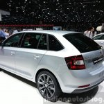 Skoda Rapid Combi limited Edition rear three quarter view at the 2015 Geneva Motor Show