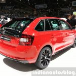 Skoda Rapid Combi lmited Edition rear three quarter(2) view at the 2015 Geneva Motor Show