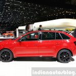 Skoda Rapid Combi lmited Edition side(2) view at the 2015 Geneva Motor Show