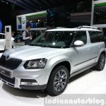 Skoda Yeti lmited Edition front three quarter view at the 2015 Geneva Motor Show