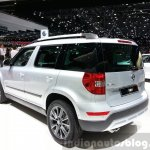 Skoda Yeti lmited Edition rear three quarter view at the 2015 Geneva Motor Show