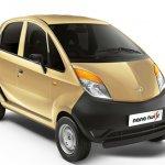 Tata Nano Twist XE front three quarter gold