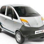 Tata Nano Twist XE front three quarter silver