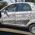 Tata Nano facelift side spied