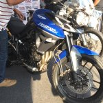Triumph Tiger XRx At India Bike Week 2015 Front Right Three Quarters