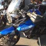 Triumph Tiger XRx At India Bike Week 2015 Front left three quarters
