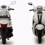 Yamaha Nozza Grande front and rear