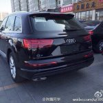 2015 Audi Q7 rear three quarter spotted in China