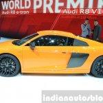2015 Audi R8 V10 Plus side(2) view at 2015 Geneva Motor Show