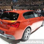 2015 BMW 1 series rear three quarter view at 2015 Geneva Motow Show