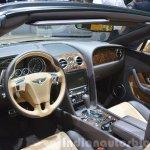 2015 Bentley GT convertible interior view at 2015 Geneva Motor Show
