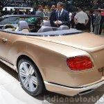 2015 Bentley GT convertible rear three quarter view at 2015 Geneva Motor Show
