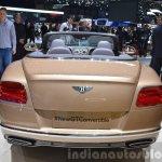 2015 Bentley GT convertible rear view at 2015 Geneva Motor Show