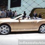 2015 Bentley GT convertible side view at 2015 Geneva Motor Show