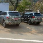2015 Ford Endeavour rear spotted testing in India