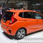 2015 Honda Jazz rear three quarter view at 2015 Geneva Motor Show