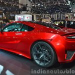 2015 Honda NSX rear three quarter view at 2015 Geneva Motor Show 10.01.13 pm