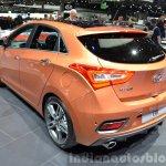 2015 Hyundai i30 Turbo rear three quarters at the 2015 Geneva Motor Show