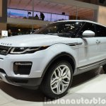 2015 Land Rover Evoque front three quarter at the 2015 Geneva Motor Show
