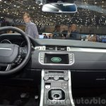 2015 Land Rover Evoque interior dashboard at the 2015 Geneva Motor Show