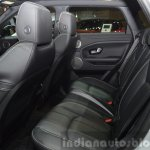 2015 Land Rover Evoque interior rear seats at the 2015 Geneva Motor Show