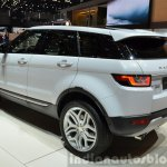 2015 Land Rover Evoque rear three quarter at the 2015 Geneva Motor Show