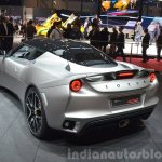 Lotus Evora 400 rear three quarter view at 2015 Geneva Motor Show
