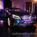 2015 Mercedes CLS front three quarter left from launch in India