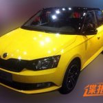 2015 Skoda Fabia yellow-black spotted in China