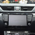 2015 Skoda Superb infotainment system at 2015 Geneva Motor Show