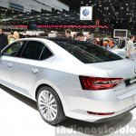 2015 Skoda Superb rear three quarter(2) view at 2015 Geneva Motor Show