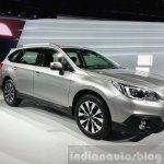 2015 Subaru Outback front three quarter view at 2015 Geneva Motor Show