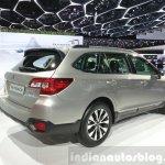 2015 Subaru Outback rear three quarter view at 2015 Geneva Motor Show
